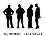 silhouette of a group of people ... | Shutterstock . vector #1691765281