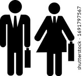 man and lady go to office ...