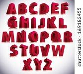 3d font  big red letters... | Shutterstock .eps vector #169182455