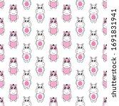 seamless pattern cute zebra and ...   Shutterstock .eps vector #1691831941
