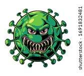 evil virus illustration. corona ... | Shutterstock .eps vector #1691832481