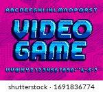 video game alphabet font. retro ... | Shutterstock .eps vector #1691836774