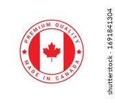 premium quality made in canada... | Shutterstock .eps vector #1691841304