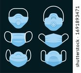 medical mask collection flat... | Shutterstock .eps vector #1691893471