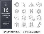 coronavirus icons  such as... | Shutterstock .eps vector #1691893804
