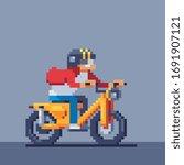 Rider E Bike Rider Man Rides A...