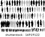 106 silhouette of people | Shutterstock .eps vector #16919122