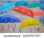 Umbrellas. Surreal Style....