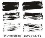 flat paint brush thin half...   Shutterstock .eps vector #1691943751