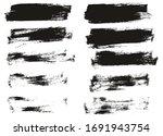 flat paint brush thin half...   Shutterstock .eps vector #1691943754