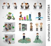 business peoples   isolated on... | Shutterstock .eps vector #169195364