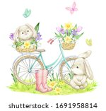 Rabbits  Butterflies  A Bicycl...