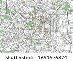 colorful milan vector city map | Shutterstock .eps vector #1691976874
