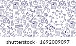 medical background with virus... | Shutterstock .eps vector #1692009097