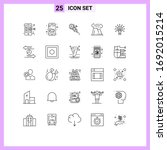 editable vector line pack of 25 ...