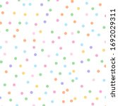 polka dots colorful pattern on... | Shutterstock .eps vector #1692029311