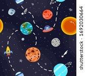 cosmic fabric for kids. bright... | Shutterstock .eps vector #1692030664