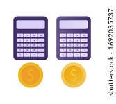illustration of calculator and...