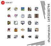 editable vector line pack of 25 ... | Shutterstock .eps vector #1692038794