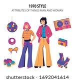 fashion history disco mirror... | Shutterstock .eps vector #1692041614