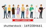 people group different job set... | Shutterstock .eps vector #1692084661