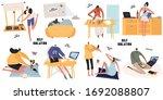 set of bright flat vector... | Shutterstock .eps vector #1692088807