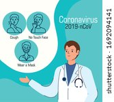 doctor with set of... | Shutterstock .eps vector #1692094141