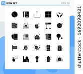 25 user interface solid glyph...