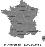 france region map with name... | Shutterstock .eps vector #1692102451