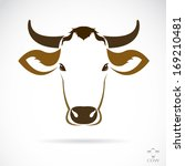 Vector Image Of An Cow Head On...