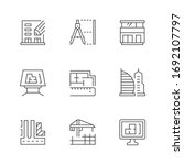 set line icons of architecture | Shutterstock .eps vector #1692107797