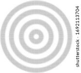 halftone pattern.target circle... | Shutterstock .eps vector #1692113704