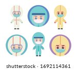 set of cute medical staff... | Shutterstock .eps vector #1692114361