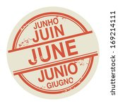 grunge rubber stamp with the... | Shutterstock .eps vector #169214111
