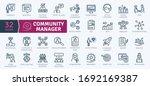 community manager activities.... | Shutterstock .eps vector #1692169387
