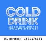 vector glossy logo cold drinks. ... | Shutterstock .eps vector #1692176851