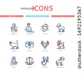 zodiac signs   line design...   Shutterstock .eps vector #1692195367