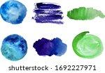 set of watercolor backgrounds... | Shutterstock .eps vector #1692227971