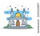 modern line art islamic mosque... | Shutterstock .eps vector #1692232897