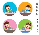 stay at home stay safe children ... | Shutterstock .eps vector #1692253051