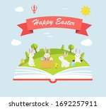 happy easter greeting with... | Shutterstock .eps vector #1692257911