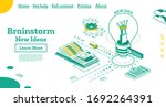 brainstorm isometric outline...   Shutterstock .eps vector #1692264391