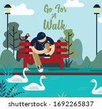 lifestyle banner relaxing man...   Shutterstock . vector #1692265837