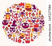 happy halloween background | Shutterstock .eps vector #169227584