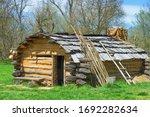 Old Cabin At David Crockett...