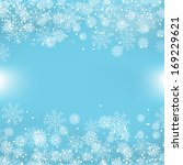 blue christmas background with... | Shutterstock . vector #169229621
