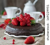 Chocolate Cake With Strawberry...