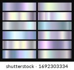 holographic  silver  bronze and ... | Shutterstock .eps vector #1692303334