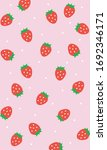 strawberry patterns  red...   Shutterstock .eps vector #1692346171