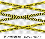 quarantine zone yellow warning... | Shutterstock .eps vector #1692370144